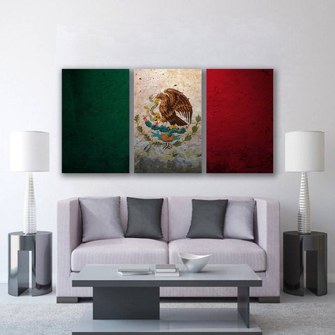 New Day Stock Store Canvas Paintings Medium / 3 Pieces / No Frame Mexican Flag Multi Panel Canvas Set