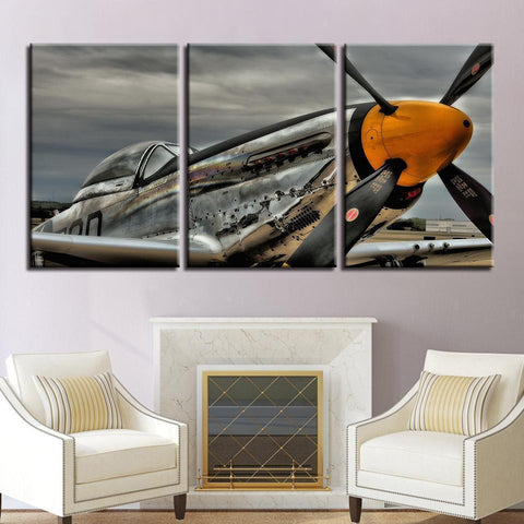 New Day Stock Store Canvas Paintings Medium / 3 Pieces / No Frame P51 Mustang Multi Panel Canvas Set