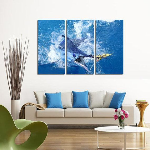 New Day Stock Store Canvas Paintings Medium / 3 Pieces / No Frame Saltwater Fishing Multi Piece Canvas Set