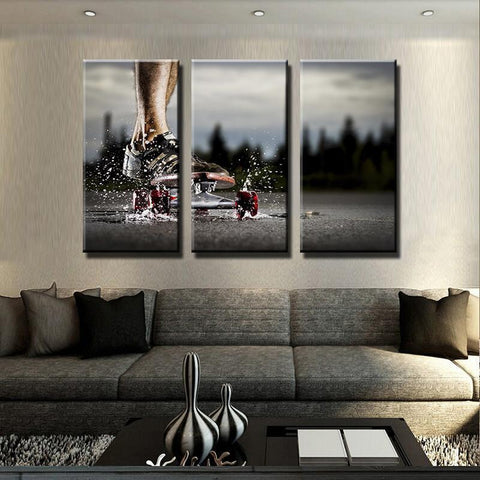 New Day Stock Store Canvas Paintings Medium / 3 Pieces / No Frame Skateboarding Passion Multi Piece Canvas Set