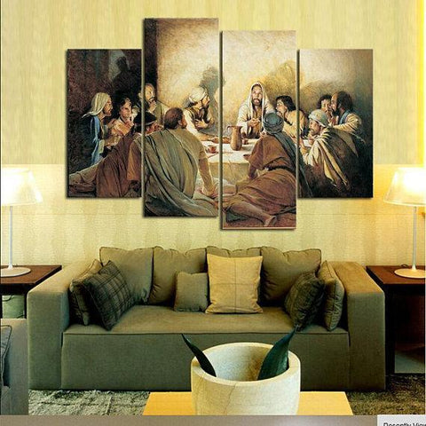 New Day Stock Store Canvas Paintings Medium / 4 Pieces / No Frame Last Supper Multi Piece Canvas Set