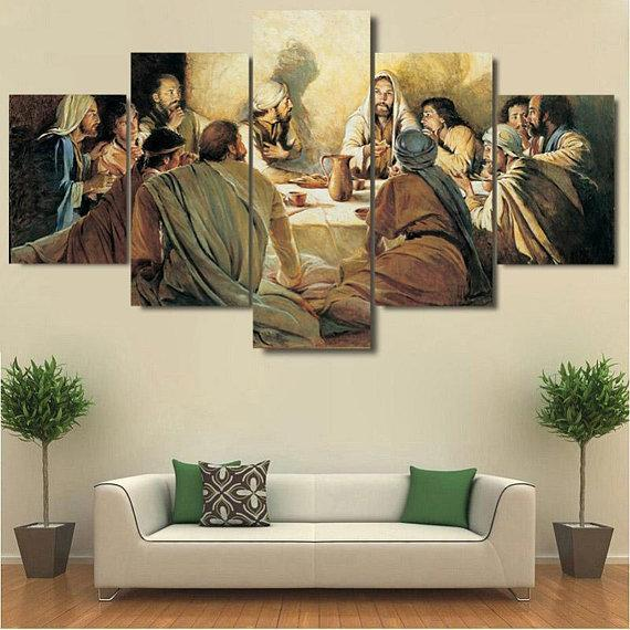 New Day Stock Store Canvas Paintings Medium / 5 Pieces / No Frame Last Supper Multi Piece Canvas Set