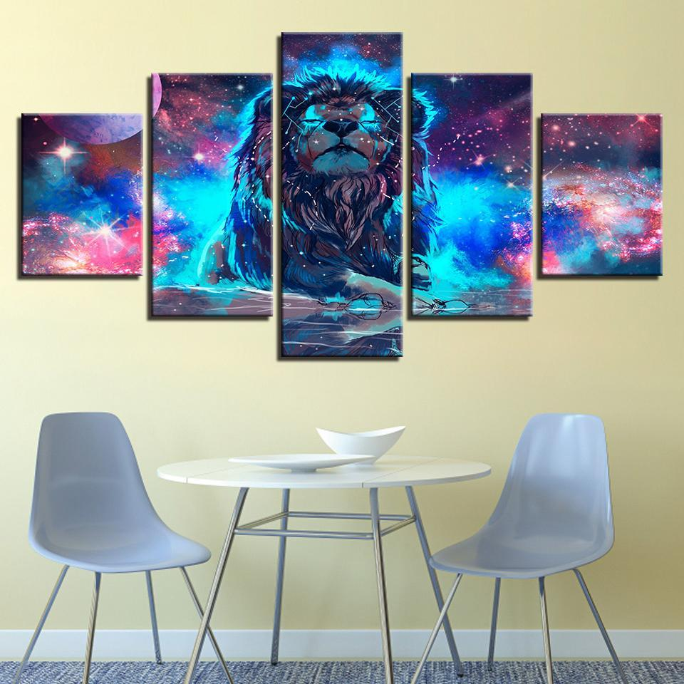 New Day Stock Store Canvas Paintings Medium / Framed The Lion King 5 Piece Canvas Set