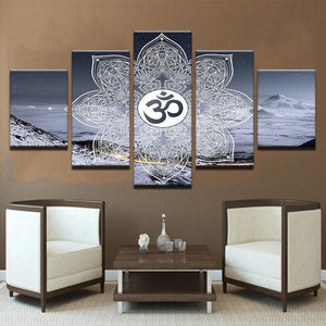 New Day Stock Store Canvas Paintings Medium / Framed Winter OM 5 Piece Canvas Set