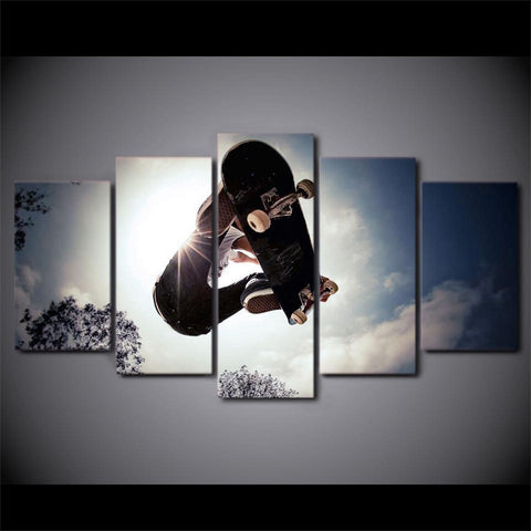 New Day Stock Store Canvas Paintings Skater High 5 Piece Canvas Set