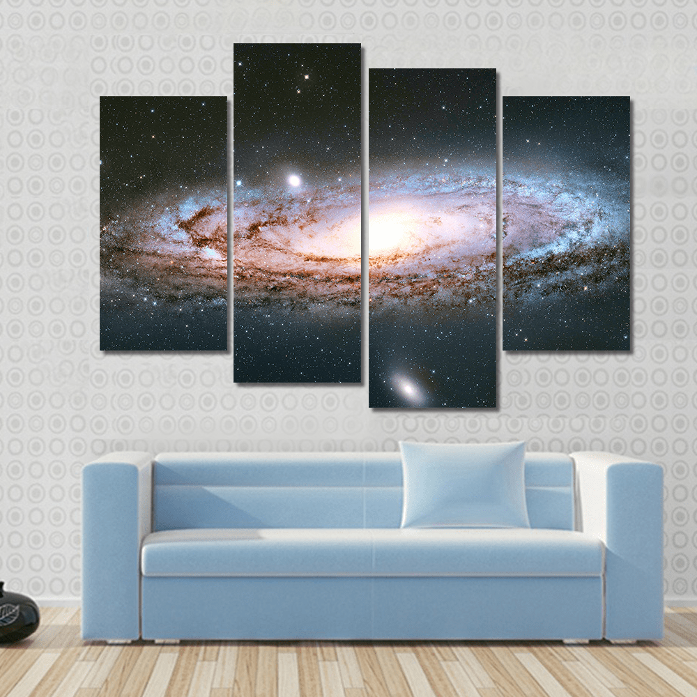 New Day Stock Store Canvas Paintings Small / 4 Pieces / No Frame Andromeda Galaxy Multi Panel Canvas Set