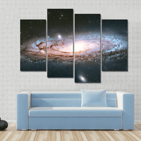 Image of New Day Stock Store Canvas Paintings Small / 4 Pieces / No Frame Andromeda Galaxy Multi Panel Canvas Set