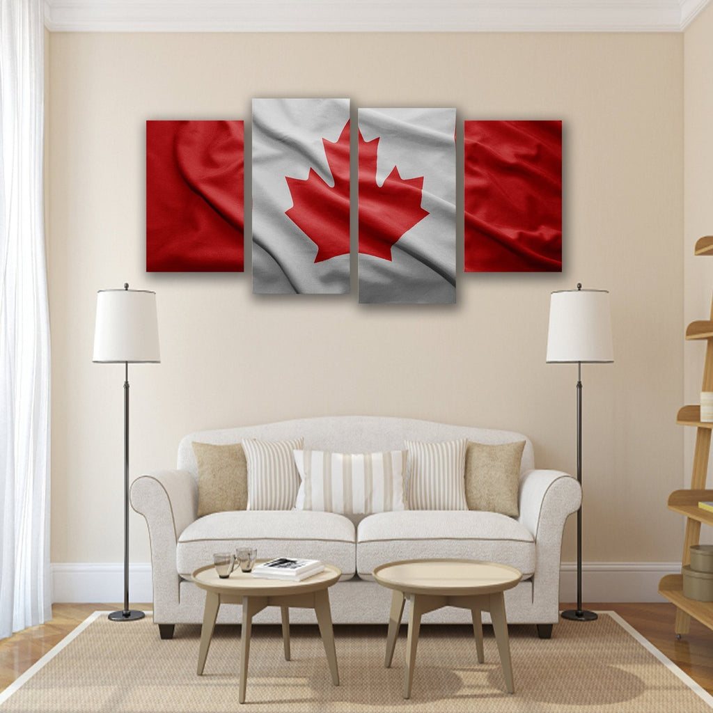 New Day Stock Store Canvas Paintings Small / 4 Pieces / No Frame Canadian Flag Multi Panel Canvas Set