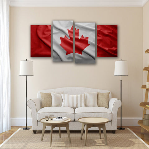 Image of New Day Stock Store Canvas Paintings Small / 4 Pieces / No Frame Canadian Flag Multi Panel Canvas Set