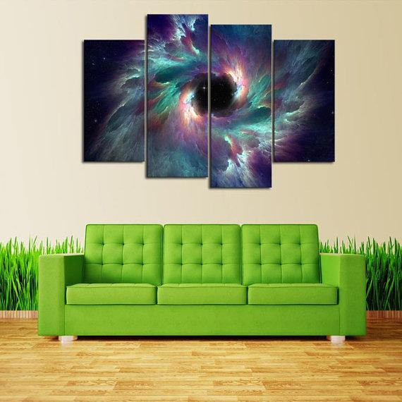 New Day Stock Store Canvas Paintings Small / 4 Pieces / No Frame Creation Galaxy Multi Piece Canvas Set
