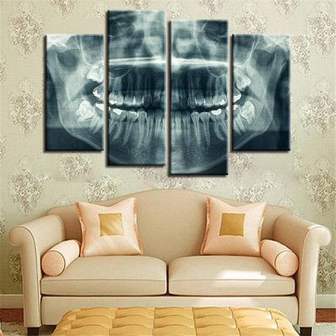 New Day Stock Store Canvas Paintings Small / 4 Pieces / No Frame Dental X Ray Multi Piece Canvas Set