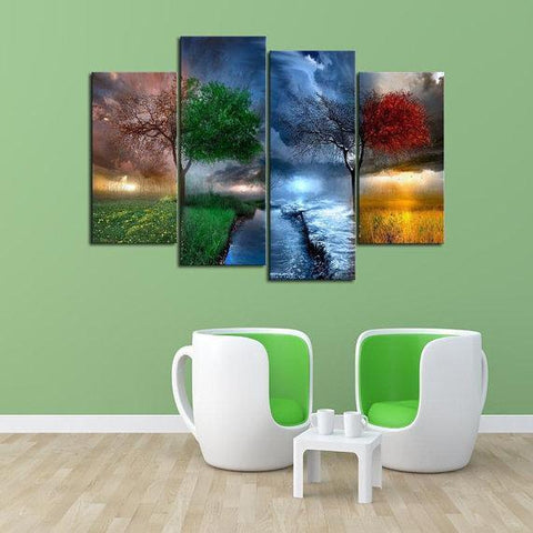 New Day Stock Store Canvas Paintings Small / 4 Pieces / No Frame Four Seasons Multi Piece Canvas Set