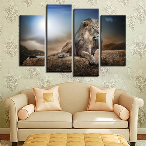 New Day Stock Store Canvas Paintings Small / 4 Pieces / No Frame Lion King Multi Piece Canvas Set