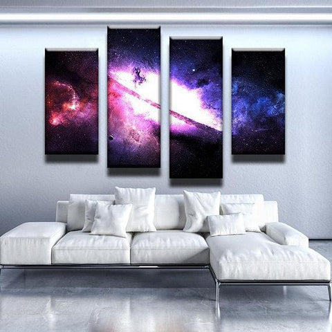 New Day Stock Store Canvas Paintings Small / 4 Pieces / No Frame Majestic Nebula Galaxy Multi Panel Canvas Set