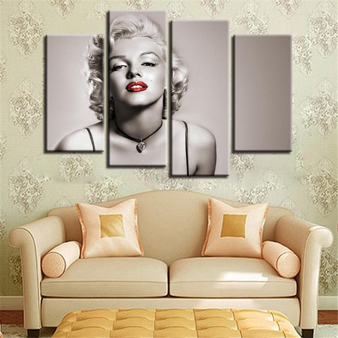 New Day Stock Store Canvas Paintings Small / 4 Pieces / No Frame Marilyn Monroe Multi Piece Canvas Set 7