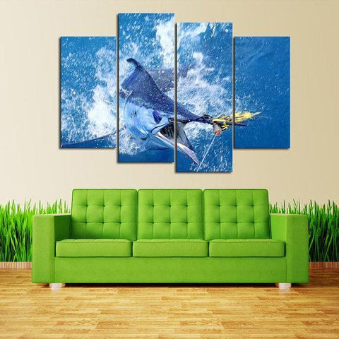 New Day Stock Store Canvas Paintings Small / 4 Pieces / No Frame Saltwater Fishing Multi Piece Canvas Set