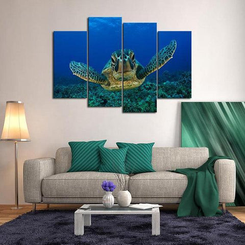 New Day Stock Store Canvas Paintings Small / 4 Pieces / No Frame Sea Turtle Love Multi Piece Canvas Set