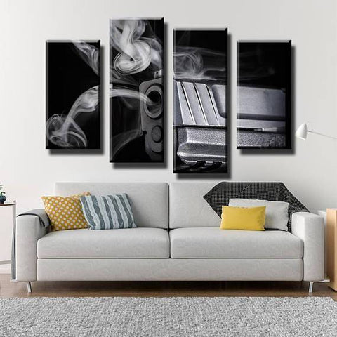 New Day Stock Store Canvas Paintings Small / 4 Pieces / No Frame Shots Gun Fired Multi Piece Canvas Set