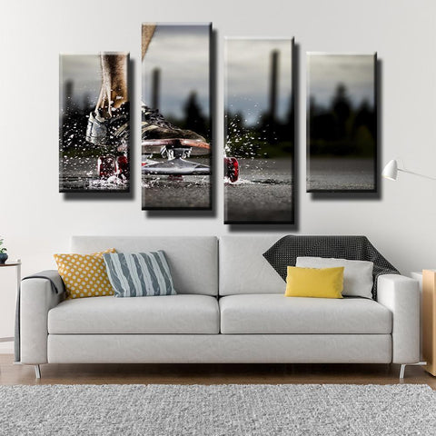 New Day Stock Store Canvas Paintings Small / 4 Pieces / No Frame Skateboarding Passion Multi Piece Canvas Set