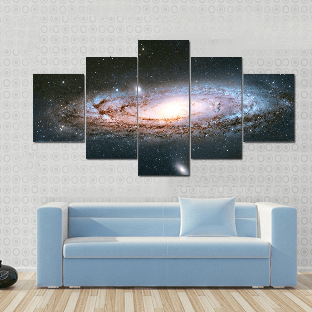 New Day Stock Store Canvas Paintings Small / 5 Pieces / No Frame Andromeda Galaxy Multi Panel Canvas Set