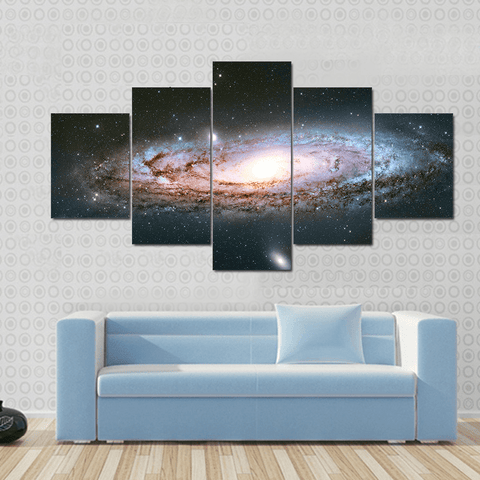Image of New Day Stock Store Canvas Paintings Small / 5 Pieces / No Frame Andromeda Galaxy Multi Panel Canvas Set
