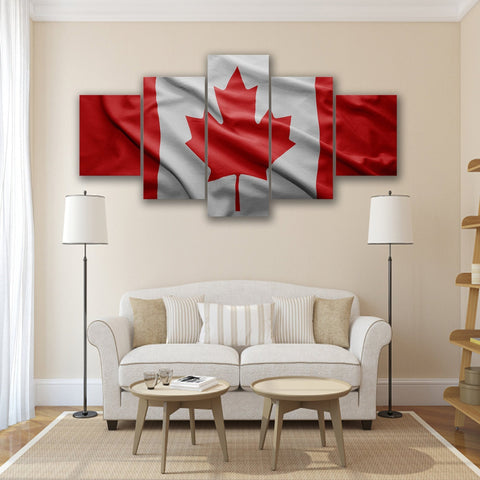Image of New Day Stock Store Canvas Paintings Small / 5 Pieces / No Frame Canadian Flag Multi Panel Canvas Set
