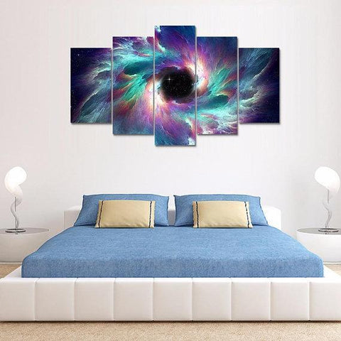 Image of New Day Stock Store Canvas Paintings Small / 5 Pieces / No Frame Creation Galaxy Multi Piece Canvas Set