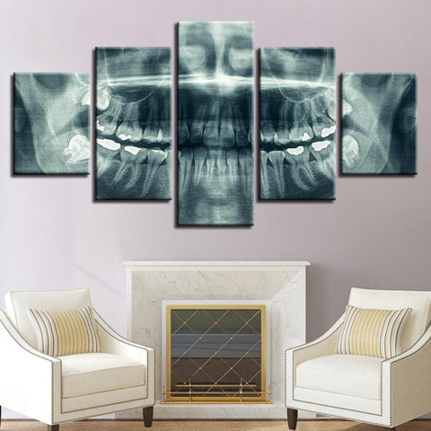 New Day Stock Store Canvas Paintings Small / 5 Pieces / No Frame Dental X Ray Multi Piece Canvas Set
