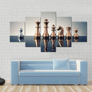 New Day Stock Store Canvas Paintings Small / 5 Pieces / No Frame Leadership Concept Of Chess Multi Piece Canvas Set