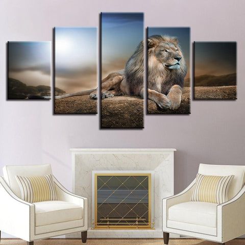 Image of New Day Stock Store Canvas Paintings Small / 5 Pieces / No Frame Lion King Multi Piece Canvas Set