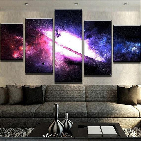New Day Stock Store Canvas Paintings Small / 5 Pieces / No Frame Majestic Nebula Galaxy Multi Panel Canvas Set