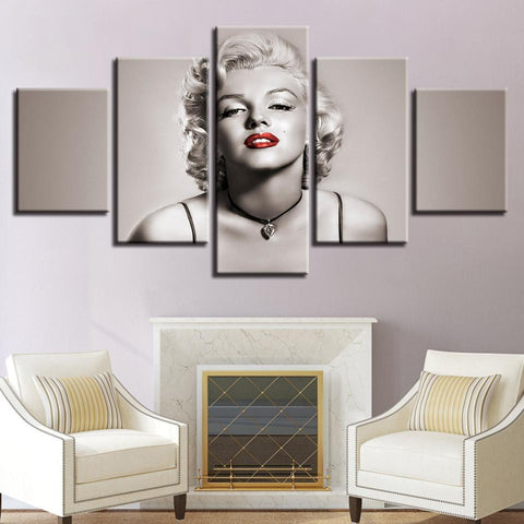 New Day Stock Store Canvas Paintings Small / 5 Pieces / No Frame Marilyn Monroe Multi Piece Canvas Set 7