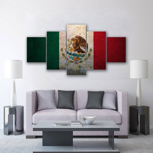 New Day Stock Store Canvas Paintings Small / 5 Pieces / No Frame Mexican Flag Multi Panel Canvas Set