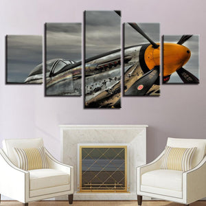 New Day Stock Store Canvas Paintings Small / 5 Pieces / No Frame P51 Mustang Multi Panel Canvas Set