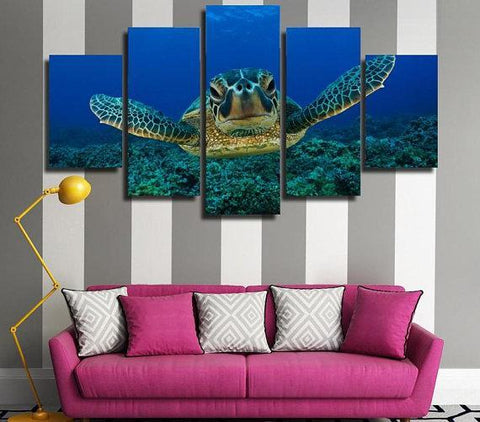 New Day Stock Store Canvas Paintings Small / 5 Pieces / No Frame Sea Turtle Love Multi Piece Canvas Set