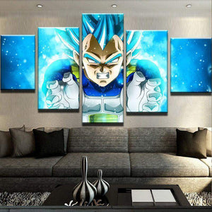 New Day Stock Store Canvas Paintings Small / 5 Pieces / No Frame Vegeta Dragon Multi Piece Canvas Set