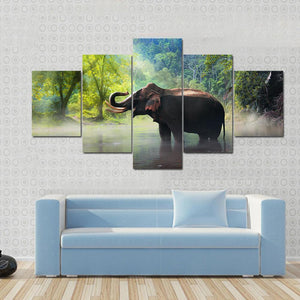 New Day Stock Store Canvas Paintings Small / 5 Pieces / No Frame Wild Elephant Multi Piece Canvas Set