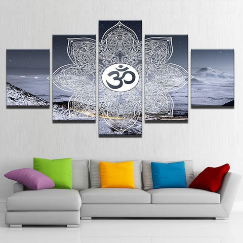 New Day Stock Store Canvas Paintings Winter OM 5 Piece Canvas Set