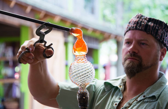 The Michigan Renaissance Festival features the Glass Academy as the Royal Glassmakers