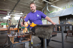 glassblowing demonstrations from artist Chris Nordin
