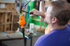 live glassblowing demonstrations from Chris Nordin