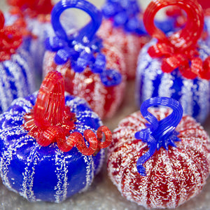 Celebration Pumpkins!!  Red, White & Blue Pumpkins!!
