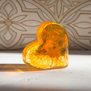 Solid Cast Glass Heart