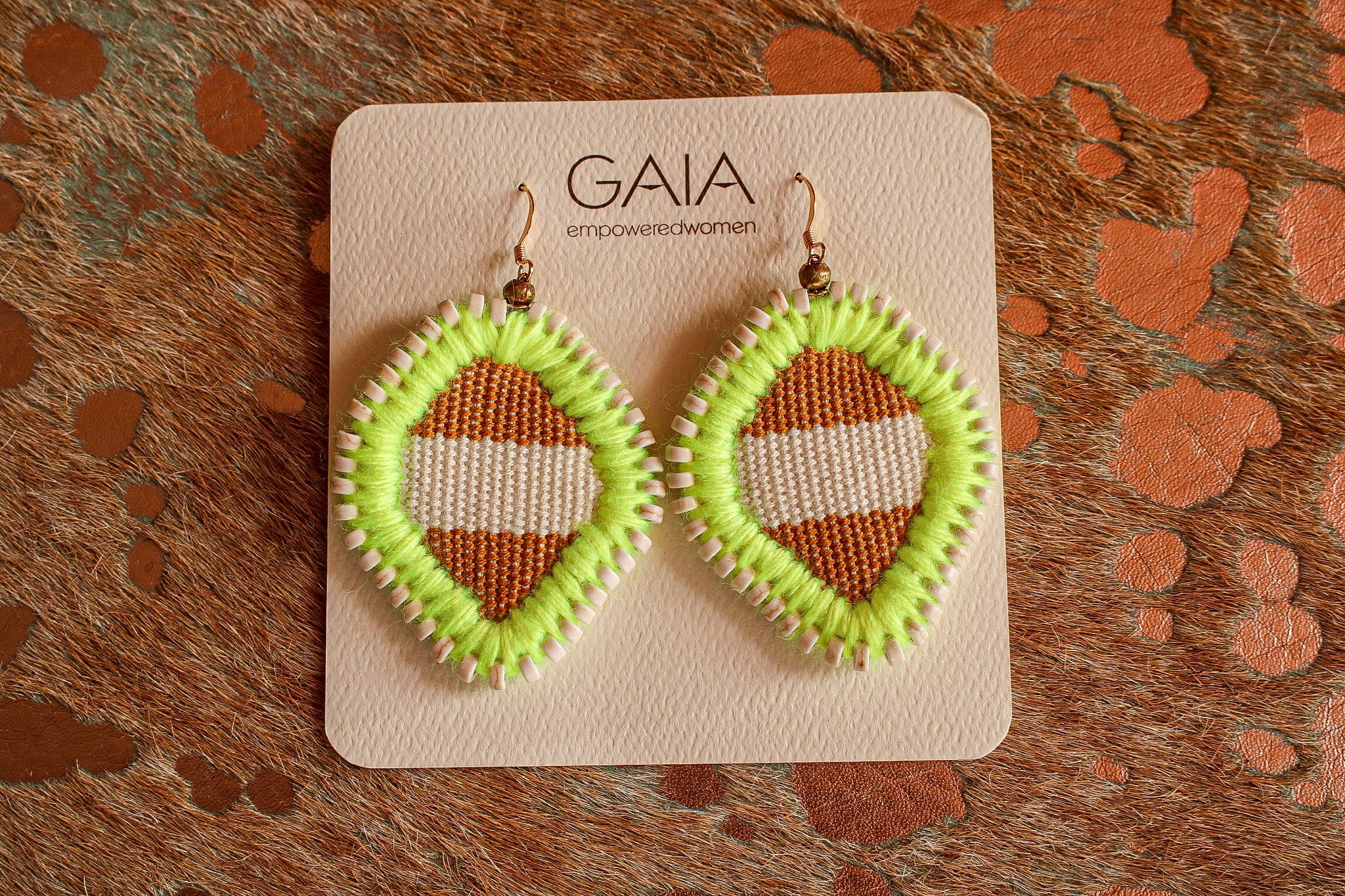 Key lime embroidered earrings | Chosen Women's Apparel