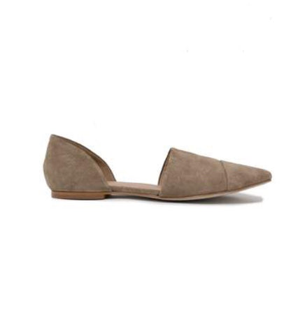 Sarai ash grey suede flat | Chosen Women's Apparel