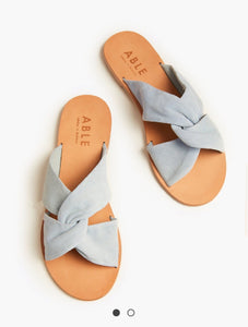 Blue suede Suze sandal | Chosen Women's Apparel