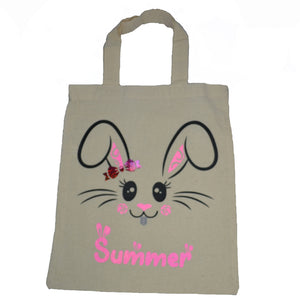 Easter Egg Calico Tote Bags