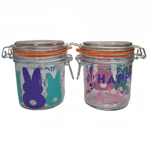 Glass Easter Jars small