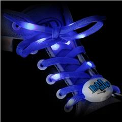 Light Em Up LED Laces 45inch Blue Sold by Star Performance Co.