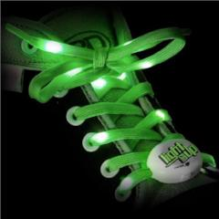 Light Em Up LED Laces 45inch Green sold by Star Performance Co.